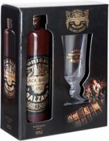Riga Black Balsam, gift box with a glass