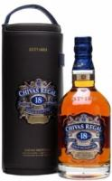 Chivas Regal 18 years old, leather case