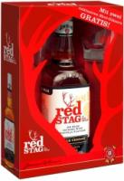 "Red Stag ""Black Cherry"", gift box with 2 glasses"