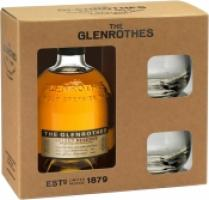 Glenrothes, Single Speyside Malt Select Reserve, with 2 glasses
