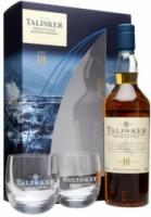 Talisker 10 years old, gift box with 2 glasses