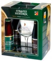"""Straffe Hendrik"", gift set (4 bottles & glass)"