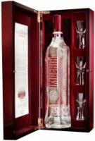 """""""Russian Standard"""" Imperia, wooden box with 3 glasses"""