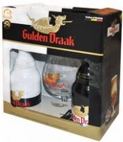 """Gulden Draak"" & ""Gulden Draak"" 9000 Quadruple, gift box with glass"