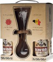 "Bosteels, ""Pauwel Kwak"", gift set (4 bottles & glass)"